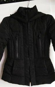 Zara Basic Womens puffer jacket black with hood